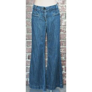 CAbi Indigo Blue Denim Wide Leg Trouser Jean #183
